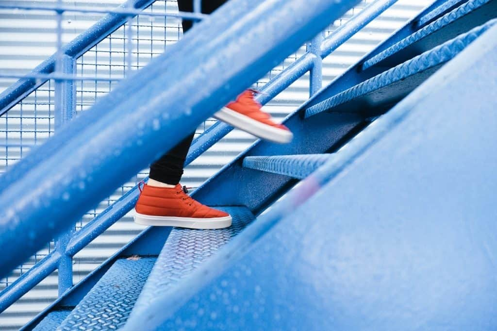 stair climbing exercise at home